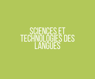 Sciences et Technologies de Langues